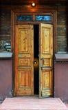 西伯利亚的木architechture 免版税库存照片