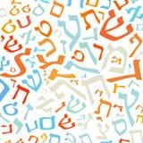 西伯来语字母表背景 免版税库存照片