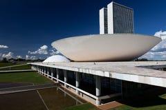 巴西全国代表大会在巴西利亚 免版税库存图片