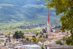 西兰德罗/Silandro在Val Venosta (南蒂罗尔) 库存图片