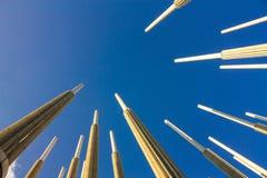西内罗广场,也称Light广场 麦德林市, Antioq 免版税图库摄影