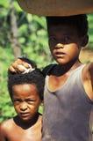 巴西农村内部的孩子 库存照片