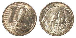 巴西分硬币 免版税库存照片