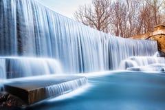 西利的池塘瀑布,在新泽西 库存照片