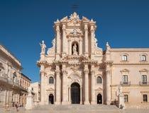 西勒鸠斯中央寺院在南西西里岛,意大利 免版税图库摄影