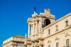 西勒鸠斯大教堂在西西里岛 免版税库存图片