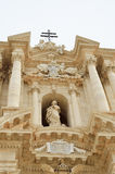 西勒鸠斯大教堂的巴洛克式的门面 免版税库存照片