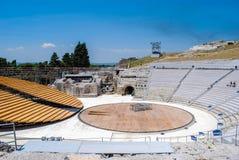 西勒鸠斯,意大利- 2012年6月02日:希腊剧院在考古学公园 库存照片
