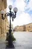 西勒鸠斯Ortigia广场中央寺院 免版税库存图片