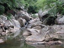 西北分行的峡谷 库存照片