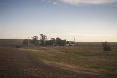 西南沙漠农场 图库摄影