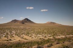 西南沙漠小山 库存照片