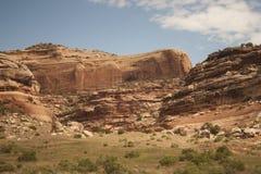 西南沙漠峭壁 库存照片