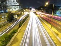 西南高速公路在晚上 免版税库存照片
