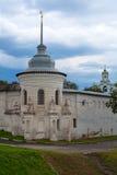 西南(突然显现)塔篱芭圣洁变貌修道院在雅罗斯拉夫尔市 免版税库存照片