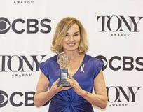 洁西卡・兰芝赢取2016年托尼奖 库存图片