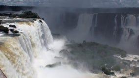 巴西和阿根廷的边界的伊瓜苏瀑布 影视素材