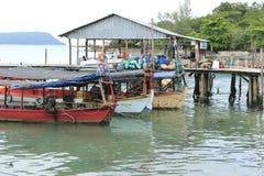 西哈努克的港口在柬埔寨 免版税图库摄影