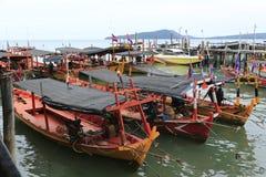 西哈努克的港口在柬埔寨 免版税库存照片