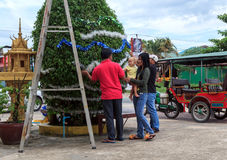 西哈努克,柬埔寨- 12月05 免版税库存照片