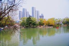 西园公园,洛阳 库存图片