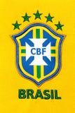 巴西国家足球队员的国家标志 免版税库存照片