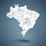 巴西地图 免版税图库摄影