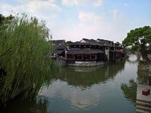 西塘古城水路在中国 免版税库存图片