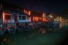 -----西塘夜六个南部的镇  免版税库存照片