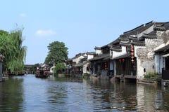 西塘水村庄 库存照片