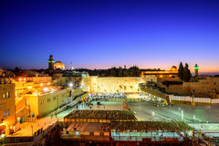 西墙壁和圣殿山,耶路撒冷,以色列 库存图片