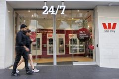 24/7西太平洋银行银行分行在奥克兰新西兰 免版税图库摄影