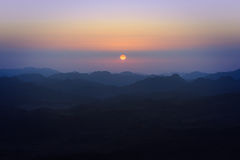 西奈山的看法 图库摄影