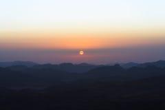 从西奈山的看法 免版税库存照片
