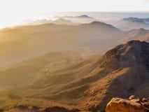 西奈山背后照明 库存照片