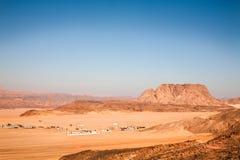 西奈的沙漠 库存照片