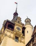 西奈,罗马尼亚建筑学的元素从19世纪 在冬天 库存照片