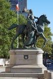 西奥多・罗斯福总统骑马雕象在纽约 免版税库存图片