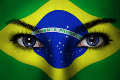 巴西妇女面孔 免版税图库摄影