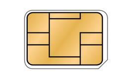 西姆卡片例证 库存照片