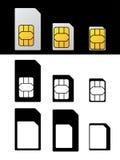 西姆卡片标准微纳诺适配器 免版税图库摄影