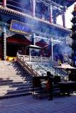 西宁市的概念青海省beishan tulou,亦称北部yamadera的 图库摄影