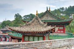 西宁,中国- 2014年6月30日:Kumbum修道院 一个著名地标 免版税图库摄影