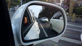 西安交通的车镜 影视素材