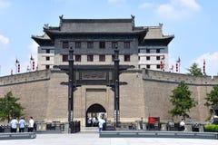 西安市墙壁的看法,中国 免版税库存照片