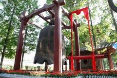 西安早晨响铃在小狂放的鹅塔,时钟 免版税库存图片