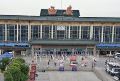 西安火车站 图库摄影