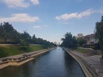 西安的运河系统 免版税库存图片
