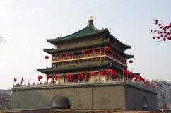 西安钟楼 免版税库存照片