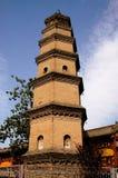 西安,中国:鲍卿寺庙的惠山塔 库存图片
